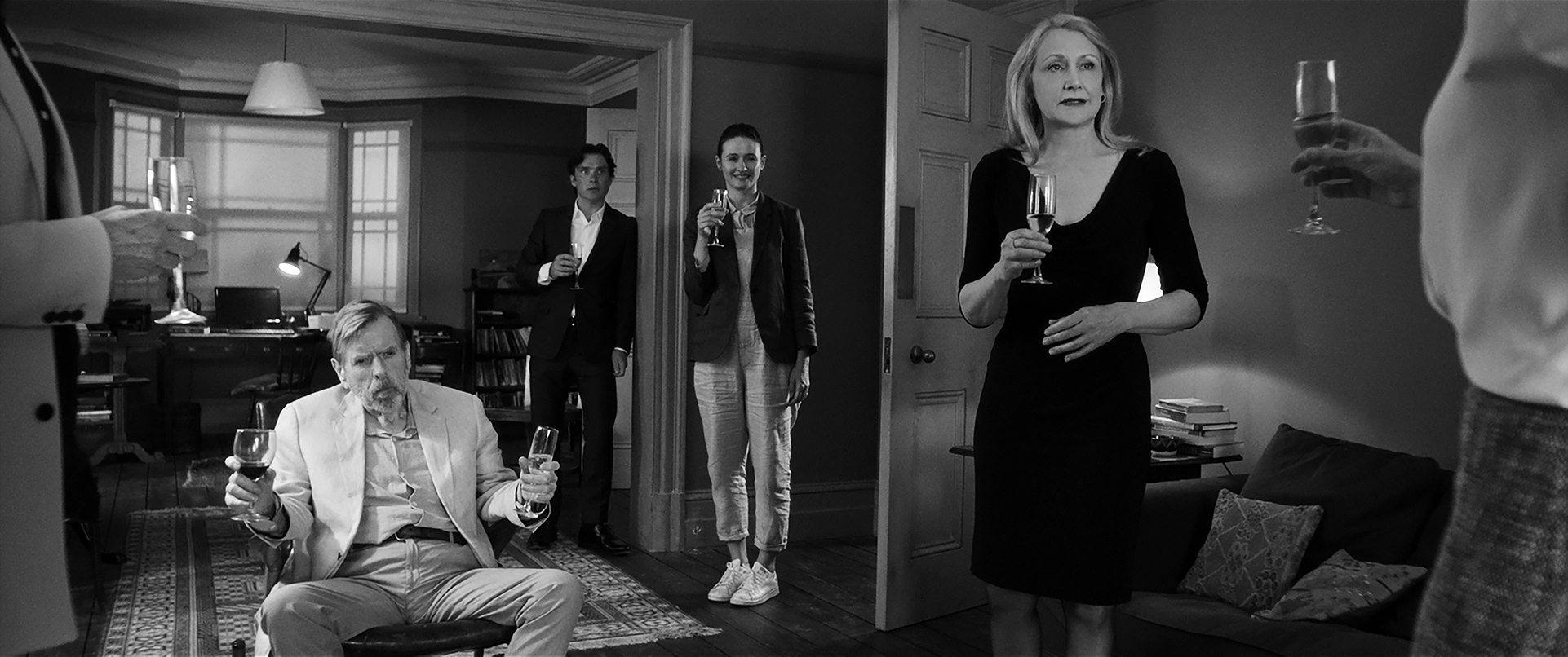 Timothy Spall, Cillian Murphy, Emily Mortimer, Patricia Clarkson - The Party © Adventure Pictures Limited 2017